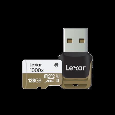 Lexar 128GB mSDXC CLS10 UH-II 150MB/s + reader