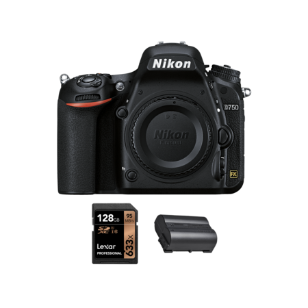 Nikon D750 body + acumulator EN-EL15b + card Lexar 128GB SDXC 95MB/s