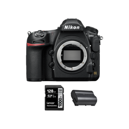 Nikon D850 body + acumulator EN-EL15b + card Lexar 128GB SDXC 150MB/s