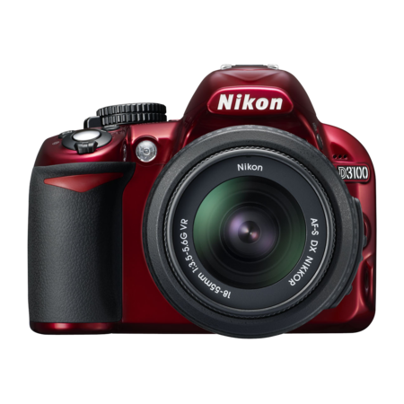 Nikon D3100 kit 18-55mm VR (red)