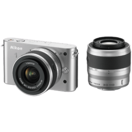Nikon 1 J1 DualKit 10-30mm + 30-110mm VR (silver)
