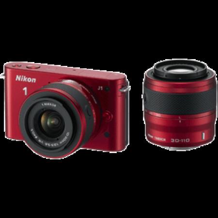 Nikon 1 J1 DualKit 10-30mm + 30-110mm VR (red)