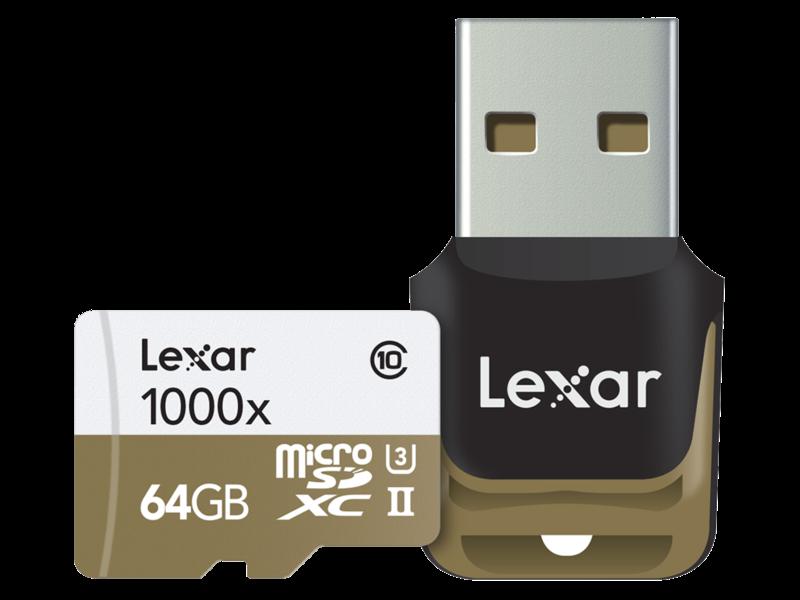 64GB mSDXC CLS10 UHS-II 150MB/s + reader
