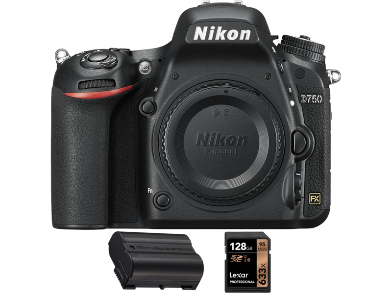 D750 body + acumulator Nikon EN-EL15a + card Lexar 128GB SDXC 95MB/s