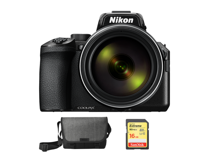 COOLPIX P950 + geanta Nikon + card SDHC imagine 2021