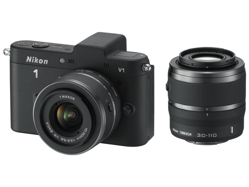Nikon 1 V1 DualKit 10-30mm + 30-110mm VR (black) imagine 2021